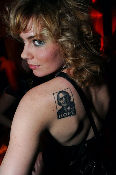 Eap 3 shepard fairey 39 s obama hope for Does obama have a tattoo