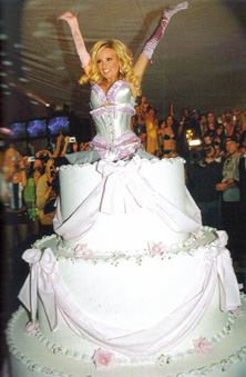 Image Woman Jumping Out Of Cake