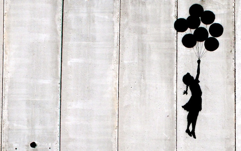 banksy graffiti is art. Black Bedroom Furniture Sets. Home Design Ideas