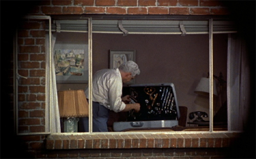 rear window alfred hitchcock essay example Free essay: in the movie, rear window, alfred hitchcock uses the story of a cripple free lance photographer, jeff jeffries, to explain the twisted sense of.